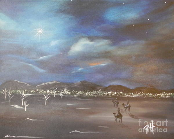 Wise Men Art Print featuring the painting Seek by Patti Spires Hamilton