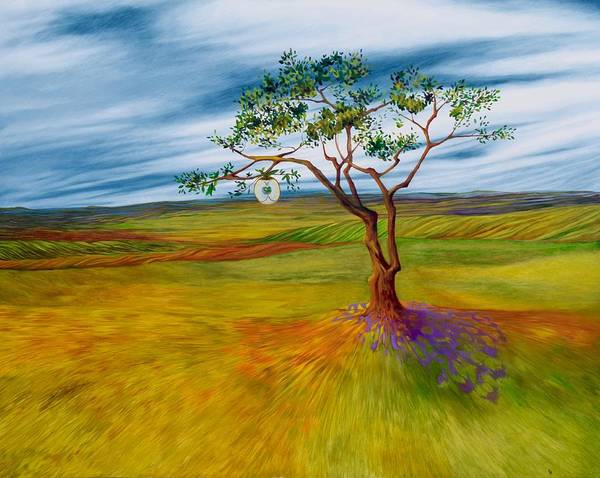Landscape Art Print featuring the painting Self Propagation by Karen Williams-Brusubardis