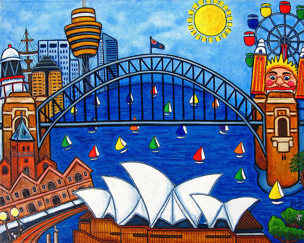 House Art Print featuring the painting Sensational Sydney by Lisa Lorenz