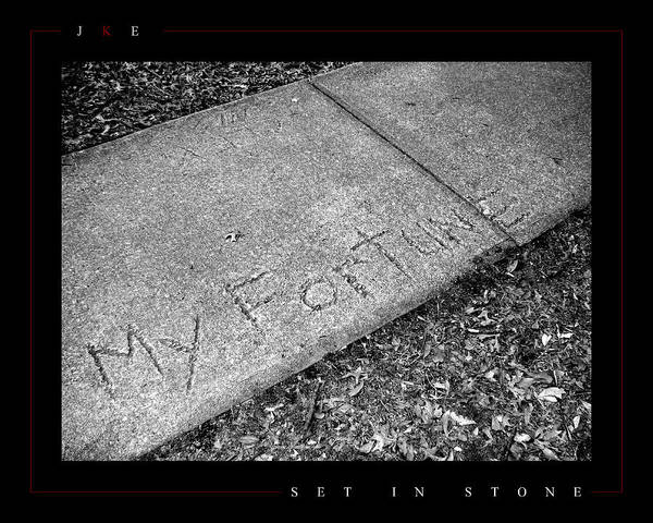 Sidewalk Art Print featuring the photograph Set In Stone by Jonathan Ellis Keys