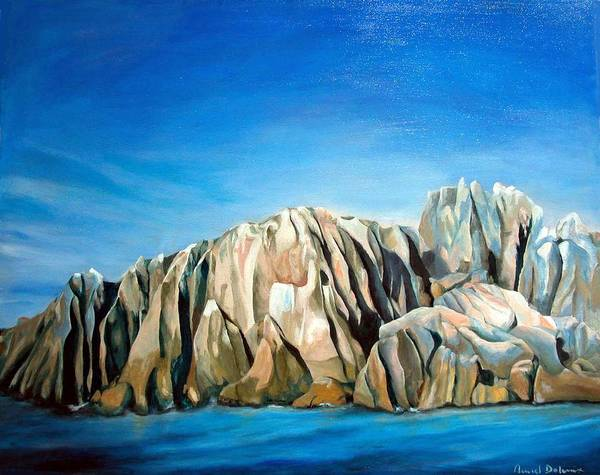 Paysage Art Print featuring the painting Seychelles by Muriel Dolemieux