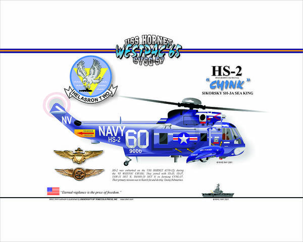 Art Print featuring the digital art Sh-3a Seaking From Hs-2 by Mike Ray