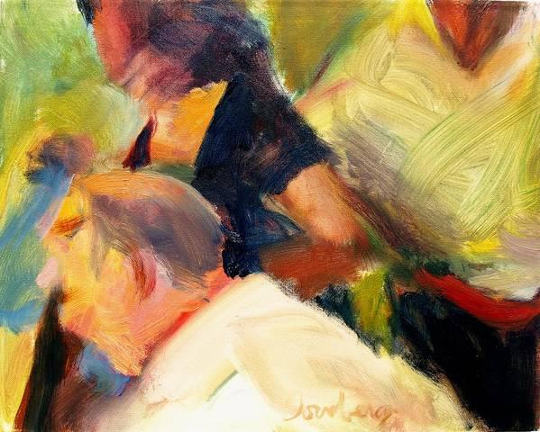 Dornberg Art Print featuring the painting She Stood Out In Black by Bob Dornberg
