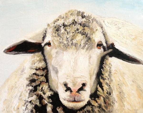 Sheep Art Print featuring the painting Sheepish by Wyn Ericson