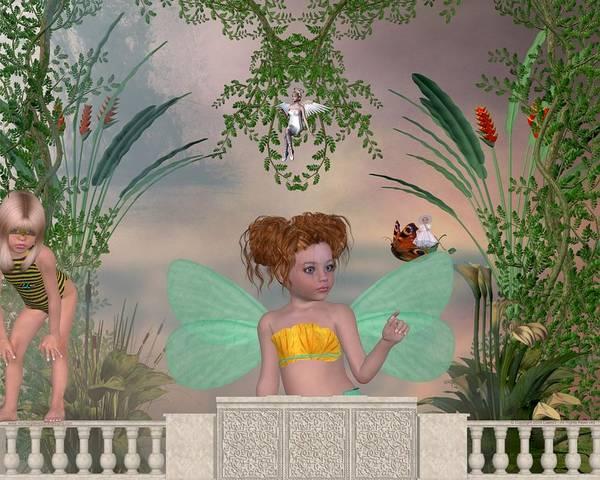 Fairy Art Print featuring the digital art Shhhh by Morning Dew