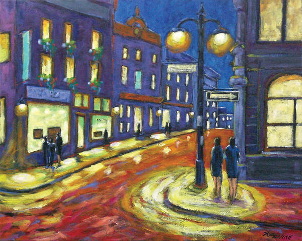 Night Art Print featuring the painting Shimmering Night by Richard T Pranke