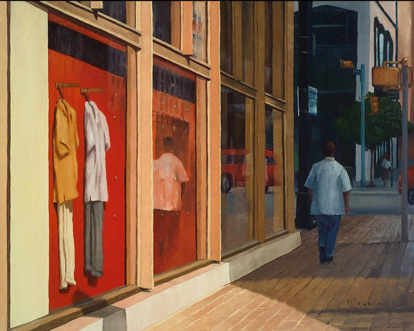 Architecture Art Print featuring the painting Shirts by Deborah Johnson