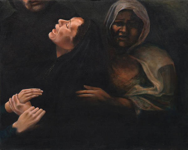 Women Art Print featuring the painting Shock And Awe by Nancy Ethiel