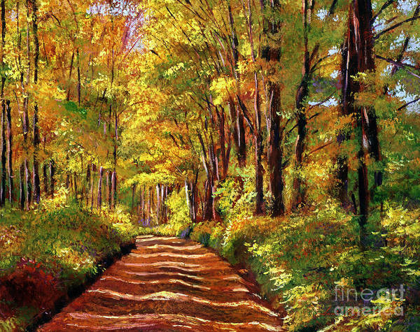 Autumn Art Print featuring the painting Silence Is Golden by David Lloyd Glover