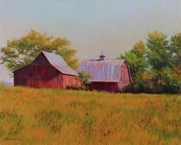 Barns Art Print featuring the painting Sisters by Keith Burgess