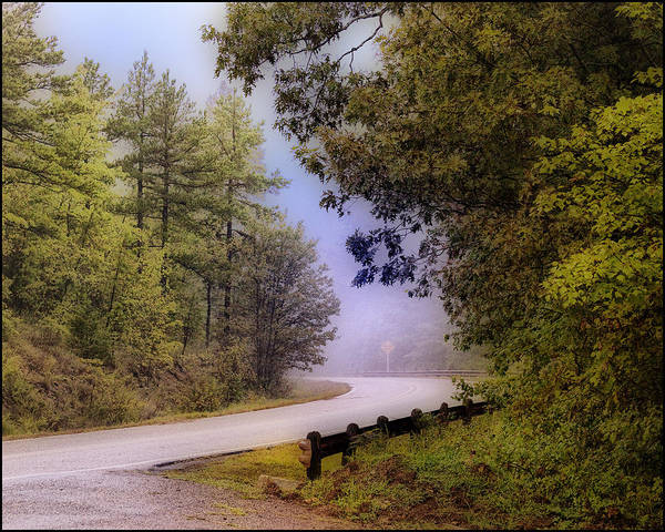 Mountain Art Print featuring the photograph Smokey Mountain Road by Shirley Dawson