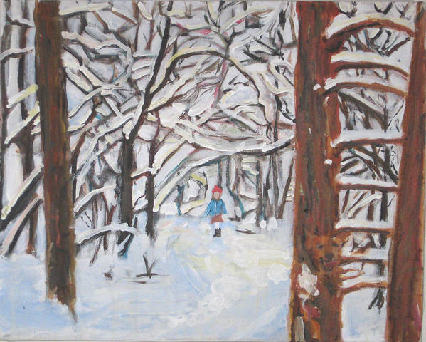 Snow Art Print featuring the painting Snow by Alicia Kroll