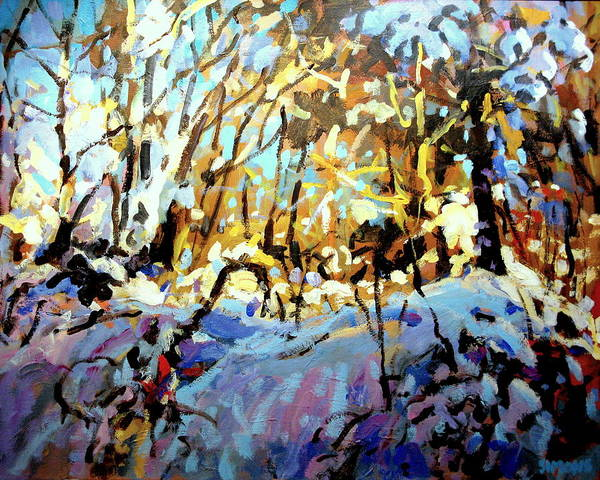 Snow Paintings Art Print featuring the painting Snow Bank by Brian Simons