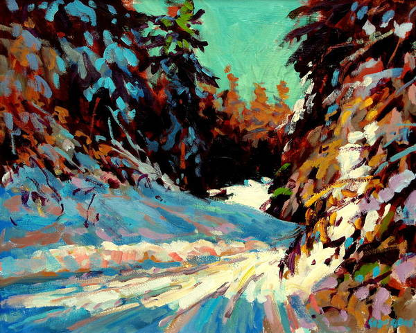 Paintings Art Print featuring the painting Snow Drive 2 by Brian Simons