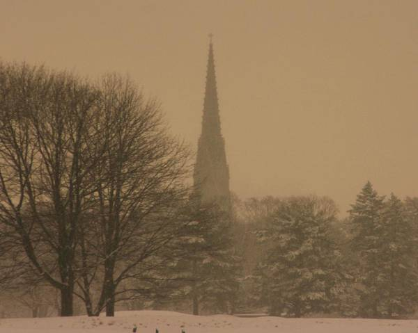 Winter Storm Art Print featuring the photograph Snow Storm by Dennis Curry