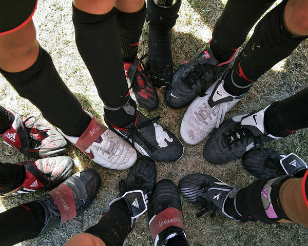 Soccer Art Print featuring the photograph Soccer Feet by Kelley King