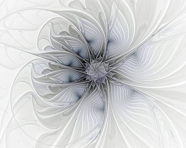 Digital Art Art Print featuring the digital art Something Blue by Amanda Moore