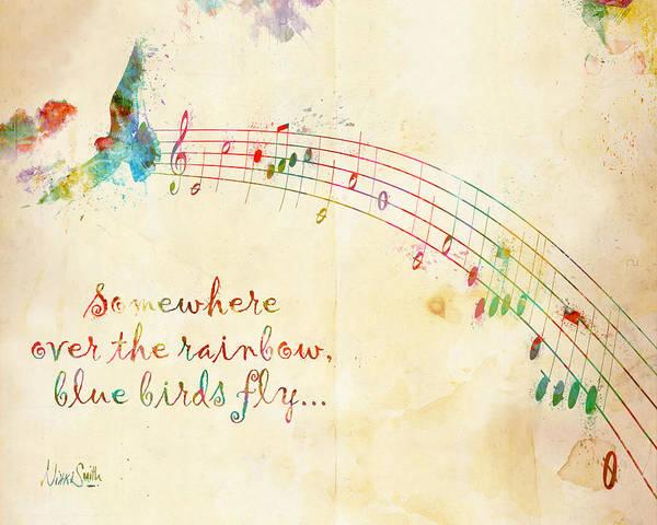 Rainbow Art Print featuring the digital art Somewhere Over The Rainbow by Nikki Smith
