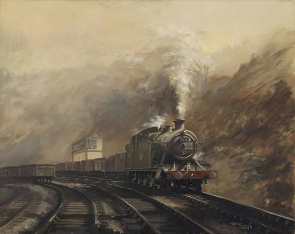 Steam Art Print featuring the painting South Wales Coal Train by Richard Picton