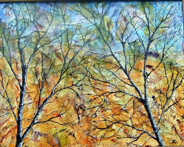 Art Print featuring the painting Spirit Trees 7 by Tami Booher