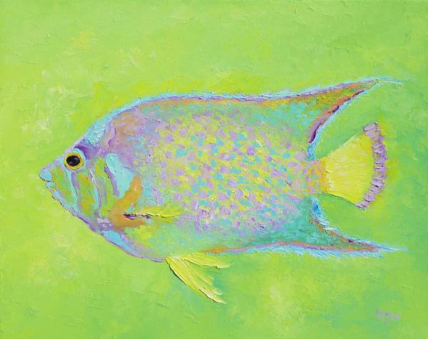 Fish Art Print featuring the painting Spotted Tropical Fish by Jan Matson