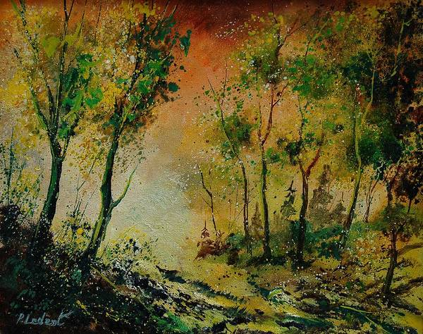Spring Art Print featuring the painting Sprin In Wood 45 by Pol Ledent