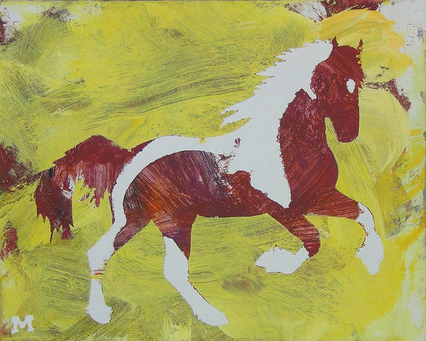 Horse Art Print featuring the painting Spring Forward by Candace Shrope