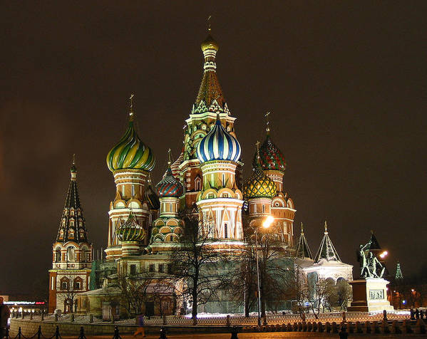 St Basil Art Print featuring the photograph St Basil Basilica by Gene Sizemore