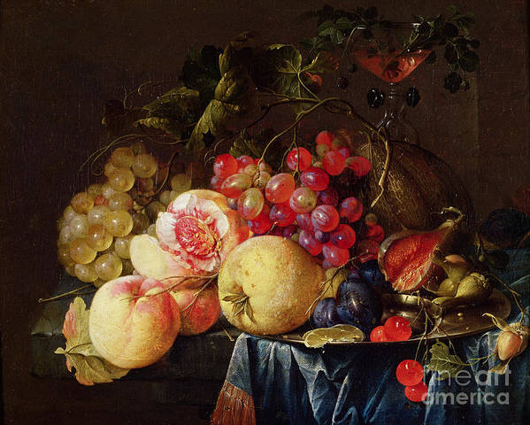 Still Print featuring the painting Still Life by Cornelis de Heem