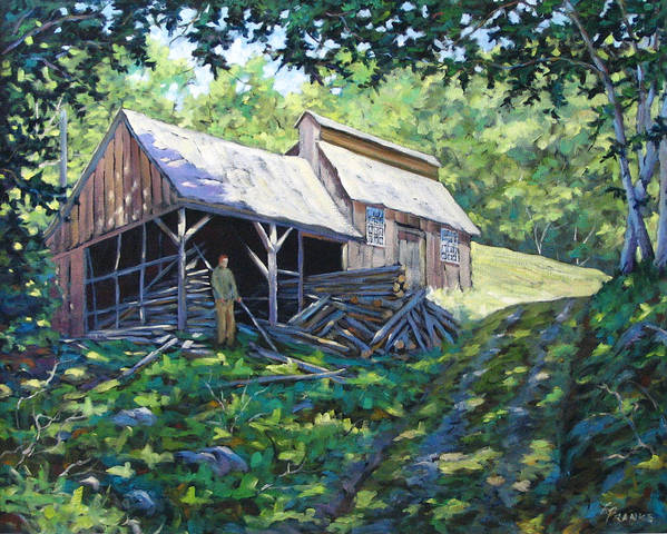 Sugar Shack Art Print featuring the painting Sugar Shack In July by Richard T Pranke