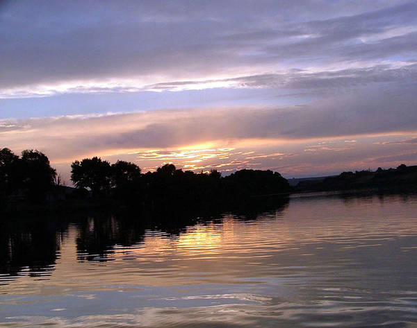 Snake River Art Print featuring the photograph Sunset On The Snake by Dawn Blair