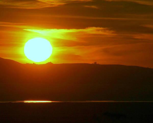 Mount Tamalpais Art Print featuring the photograph Sunset Over Mount Tamalpais by Kerry Reed