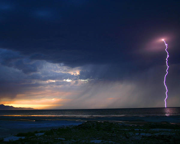 Weather Art Print featuring the photograph Sunset Surprise by Gene Praag