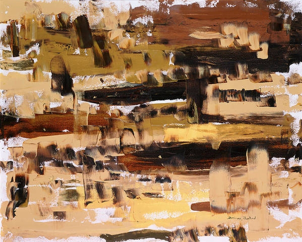 Abstract Art Print featuring the painting Superpositions 2 by Dominique Boutaud