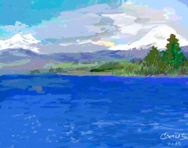 Art Art Print featuring the painting Sur De Chile Encanto by Carlos Camus