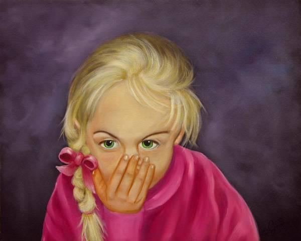 Portrait Art Print featuring the painting Surprise by Joni McPherson