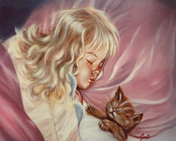 Portrait Art Print featuring the painting Sweet Dreams by Joni McPherson
