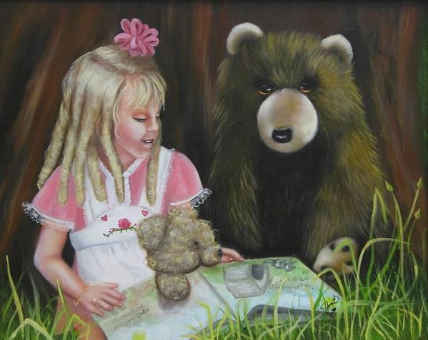Children Art Print featuring the painting Teacher by Joni McPherson