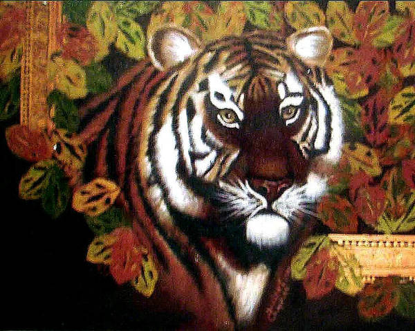 Tiger Art Print featuring the painting Tessas Tiger by Darlene Green