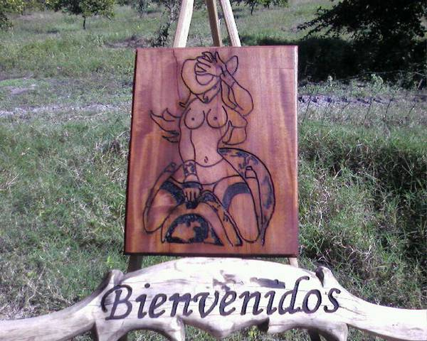 Texana Art Print featuring the relief Texana by Calixto Gonzalez