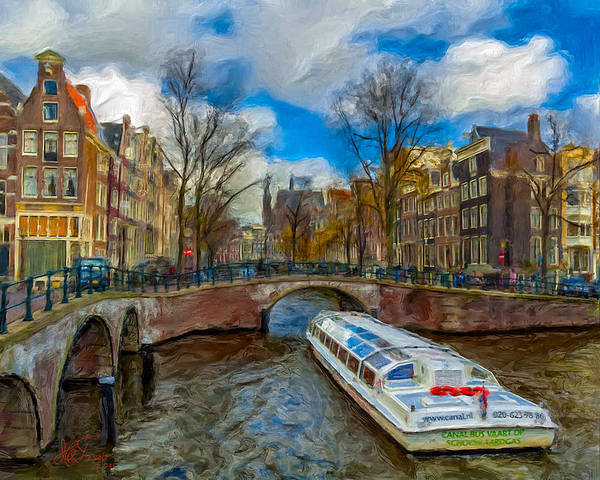 Amsterdam Art Print featuring the photograph The Bridges Of Amsterdam by Juan Carlos Ferro Duque