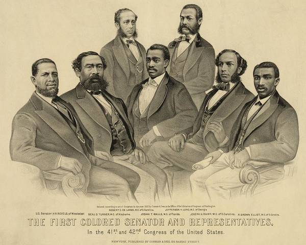 History Art Print featuring the photograph The First African American Senator by Everett