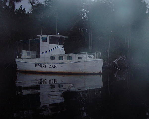 Boat Art Print featuring the painting The Ghost Ship by Debbie May