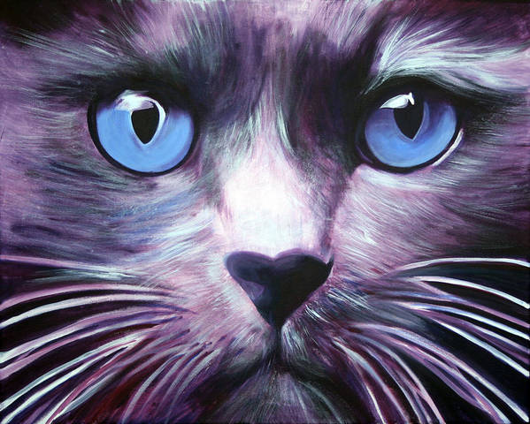 Cats Art Print featuring the painting The Guardian by Fiona Jack