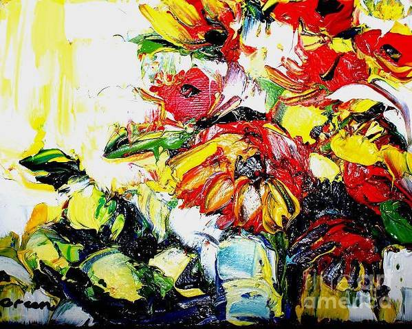 Artwork Art Print featuring the painting The Joyful Garden by Maya Green