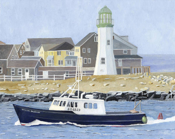 Fishingboat Art Print featuring the painting The Michael Brandon by Dominic White