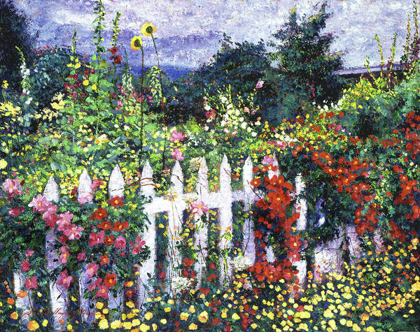 Gardens Art Print featuring the painting The Painter's Palette Garden by David Lloyd Glover