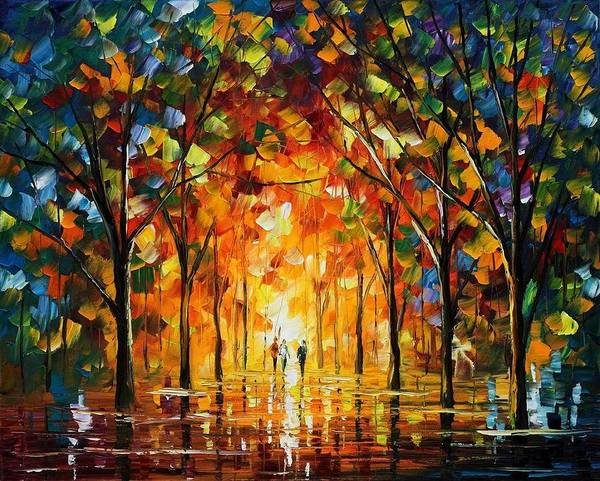 Afremov Art Print featuring the painting The Return Of The Sun by Leonid Afremov