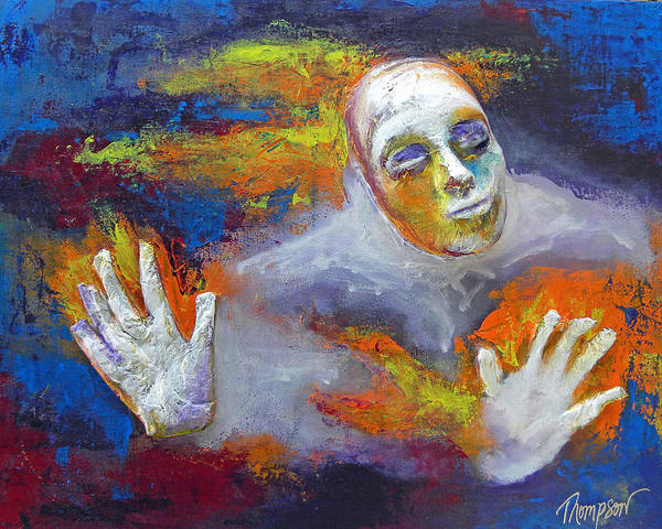 Spiritual Art Print featuring the mixed media The Struggle by Natasha Thompson