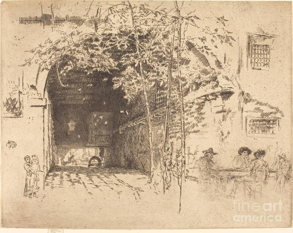 Art Print featuring the drawing The Traghetto, No.ii by James Mcneill Whistler